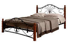Купить кровать Фортуна 1 чёрный махагон в Красноярске